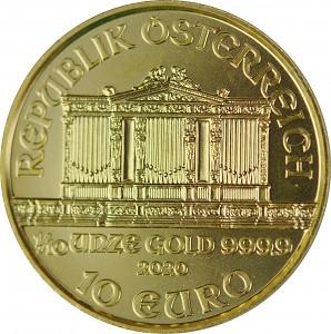 Wiener Philharmoniker 1/10oz Gold - 2020