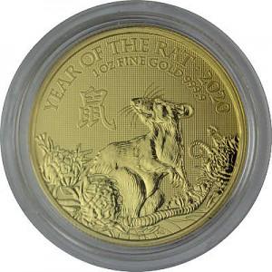 Lunar UK Ratte 1oz Gold - 2020