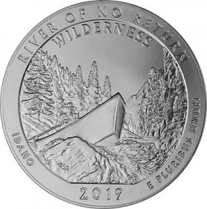 America the Beautiful - Idaho Frank Church River 5oz Silber - 2019