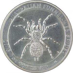 Australien Trichternetzspinne (Funnel Web Spider)  1oz Silber - 2015 B-Ware
