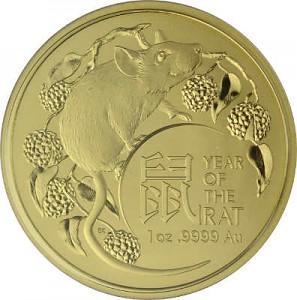 Lunar Ratte Royal Australien Mint 1 Unze Gold - 2020
