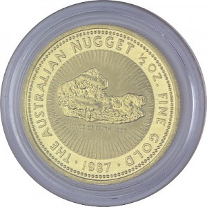 Känguru/Nugget 1/2oz Gold - 1987