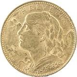 10 Schweizer Franken Vreneli 2,9g Gold
