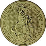Queens Beasts White Horse 1oz Gold - 2020