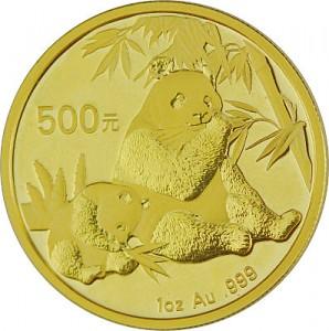 China Panda 1oz Gold - 2007