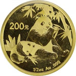 China Panda 1/2oz Gold - 2007