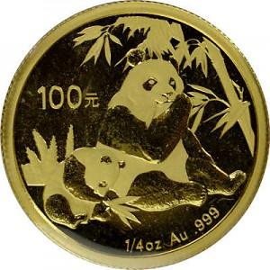 China Panda 1/4oz Gold - 2007