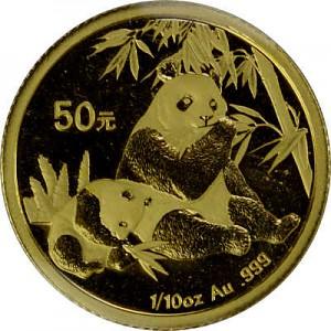 China Panda 1/10oz Gold - 2007
