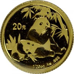 China Panda 1/20oz Gold - 2007