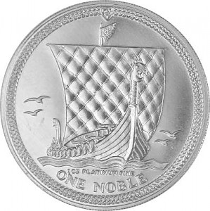 One Noble Isle of Man 1 Unze Platin diff.