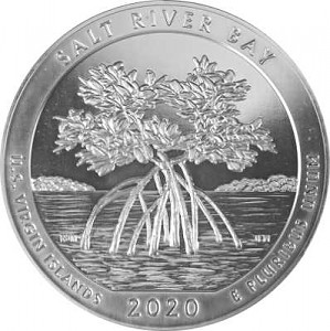 America the Beautiful - Virgin Islands Salt River Bay 5oz Silber - 2020