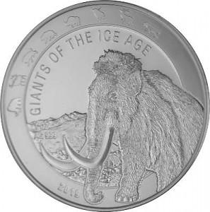 Giganten der Eiszeit - Wollmammut 1oz Silber - 2019