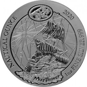 Ruanda Nautical Serie - Mayflower 1oz Silber - 2020 (regelbesteuert)