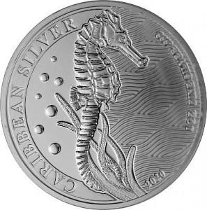 Barbados Seepferdchen 1oz Silber - 2020