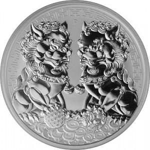 Double Pixiu - Australien 1oz Silber - 2020