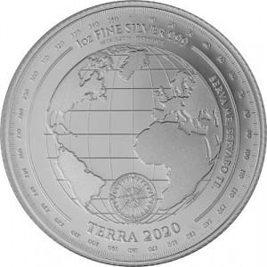 Tokelau Terra Erde 1 Unze Silber - 2020