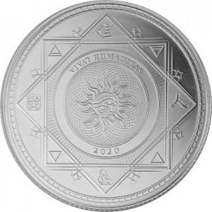 Tokelau Vivat Humanitas Menschheit 1 Unze Silber - 2020