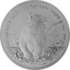 Sumatra Tiger RAM (Zoo Serie) 1 Unze Silber - 2020