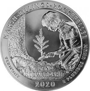 America the Beautiful - Vermonth Marsh Billings Rockefeller 5oz Silber - 2020