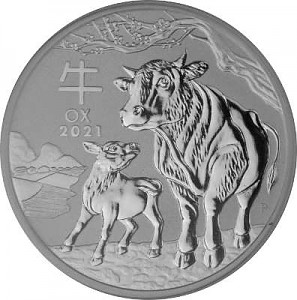 Lunar III Ochse 1oz Silber - 2021