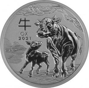 Lunar III Ochse 1/2oz Silber - 2021