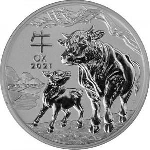 Lunar III Ochse 2oz Silber - 2021