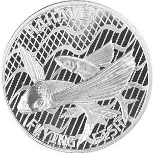 Tokelau Flying Fish - Hahave Fliegenfisch 1oz Silber - 2020
