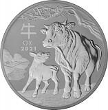 Lunar III Ochse 1kg Silber - 2021