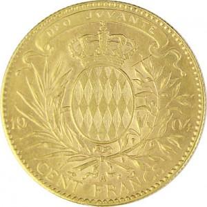 100 Francs Monaco Albert 29,04g Gold