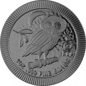 Niue Athener Eule 1oz Silber - 2021