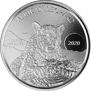 Afrika Ghana Leopard 1oz Silber - 2020