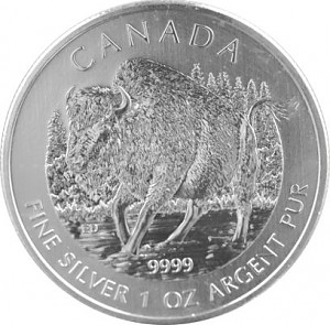 Wildlife Bison 1oz Silber - 2013