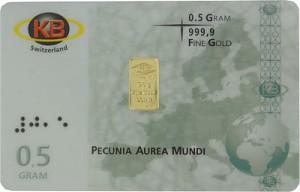 Goldbarren 0,5g - KB-Gold Switzerland