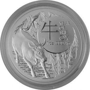 Lunar Ochse  Royal Australien Mint 1oz Silver - 2021