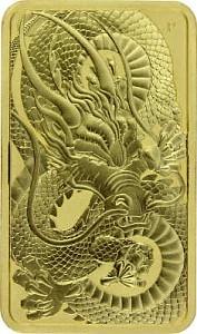 Perth Mint Rectangular Dragon 1oz Gold - 2021