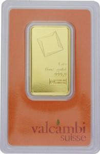 Goldbarren 1oz - Valcambi
