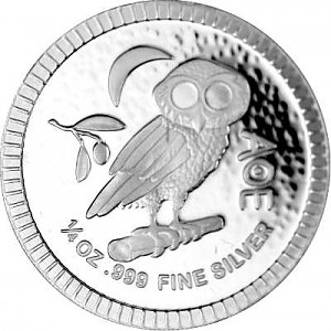 Niue Athener Eule 1/4oz Silber - 2021