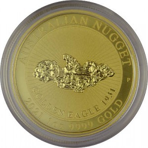 Australian Nugget 1oz Gold - Golden Eagle 2021