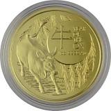 Lunar Ochse Royal Australien Mint 1 Unze Gold - 2021