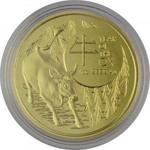 Lunar Ochse Royal Australien Mint 1 Unze Gold - 2021
