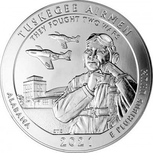 America the Beautiful - Alabama Tuskegee Airmen 5oz Silber - 2021