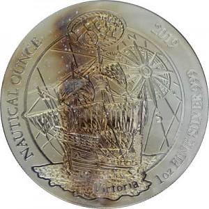 Ruanda Nautical Serie - 500 Jahre Victoria 1oz Silber - 2019 B-Ware
