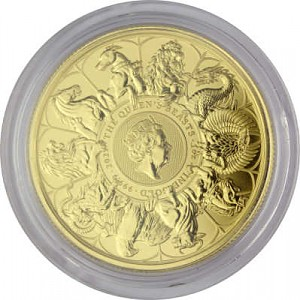 Queens Beasts Completer Coin 1oz Gold - 2021