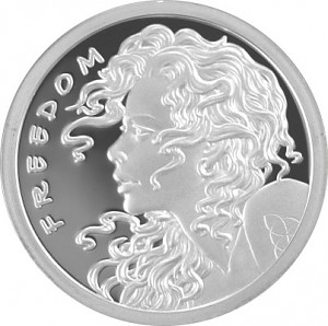 Freedom Girl 1oz Silber - Proof