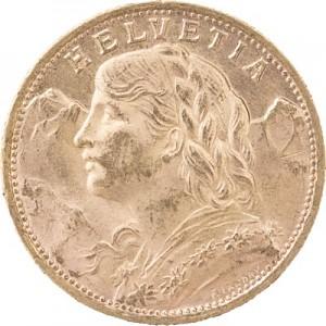 20 Schweizer Franken Vreneli 5,81g Gold