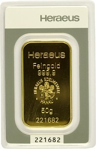Gold Bar 50g - Heraeus
