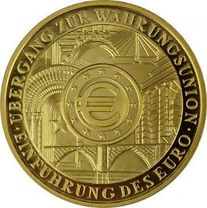 200 Euro 1oz Gold - 2002 Einführung Euro