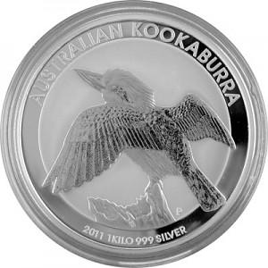 Kookaburra 1kg Silver - 2011