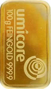 Gold Bar 100g - Various Manufacturers
