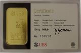 Goldbarren 100g - verschiedene Hersteller